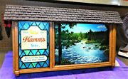 1960s Hammand039s Beer Scenorama Motion Campfire Sign Gorgeous Stored For Years