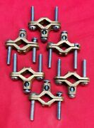 Unbranded Ground Rod Clamp, 2-10 Awg Wire Range, Alloy, Copper, Lot Of 6