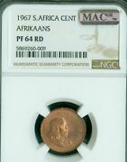 1967 South Africa 1 Cents Ngc Pf-64 Pq 2nd Finest Mac Spotless 50 Minted