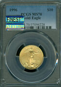 1996 Gold Eagle 10 1/4 Oz Pcgs Ms70 Mac Finest Registry And Mac Spotless