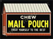 Chew Mail Pouch 9 X 12 Metal Sign