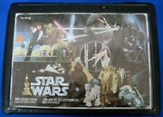 1977 Star Wars Action Figure Vinyl Carry Case Bilingual And Rare Black Trays Sw111