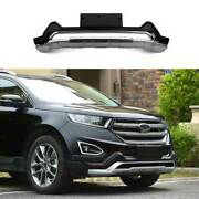 For Ford Edge 2015-2018 Silver Sports Front Skid Plate Bumper Board Guard 1pcs