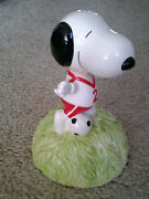 Willitts Snoopy Soccer Vintage 1980's Era Music Box Plays Who Can I Turn To