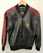 Adidas A15 Black Leather Jacket New T.s - 2002 - Ian Brown Run Dmc Collector
