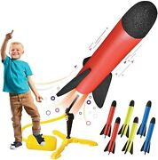 Toy Rocket Launcher For Kids Andndash Shoots Up To 100 Feet Andndash 8 Colorful Foam Rockets A