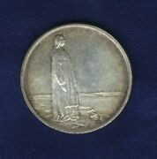Norway Haakon Vii 1914 2 Kroner Silver Coin, Almost Uncirculated/uncirculated