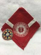 Jab-22 Boy Scouts- 1937 National Jamboree Patch And Neckerchief