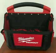 Milwaukee Pack Out Tote Tool Storage Organizer Jobsite With Tool Bag 15 Inch