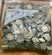 Bag Of 500 Buffalo Nickels Part Partial Dates Mostly 1918-1930 Some Later