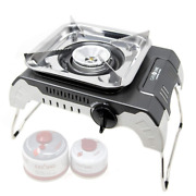 Auto Isobutane Portable Camping Stove For Outdoor Cooking, Stainless Steel Body