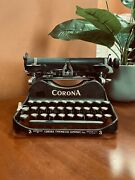 Smith Corona Foldable Portable Manual Typewriter, In Working Condition, Pre Ww1