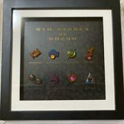 Pokemon Pikachu Gym Badge Collection Pin Badge Framed Limited Rare