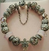 Authentic Pandora Bracelet With Charms. Cherry Blossoms. New