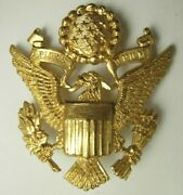 30s / Ww2 Us Army Officer Hat Badge - Luxenberg New York / England - Minty - Sb