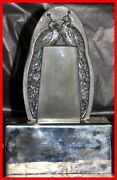 Sabino Frosted Glass Menu Holder Model Les Paons 4778r In Lighted Base