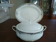 Lenox Americaand039s Home Southern Vista Covered Vegetable Bowl And 13.5 Oval Platter