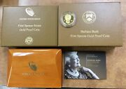 2020 W 10 1/2 Oz Gold Barbara Bush First Spouse Proof Coin Ogp