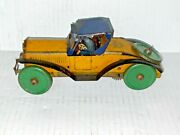 Antique 1933 Louis Marx Tin Litho Windup Toy Race Car No. 50-50winds And Runs