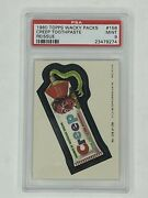 1980 Topps Wacky Packages Reissue 158 Creep Toothpaste Psa 9 Mint