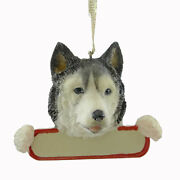 Personalized Ornaments Siberian Husky Polyresin Christmas Puppy Dog 21840