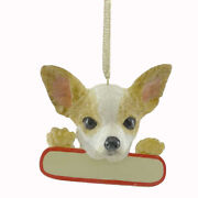 Personalized Ornaments Chihuahua Polyresin Christmas Puppy Dog 21810