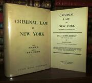 Edward Marks Lloyd I. Paperno Criminal Law In New York 1st Edition 1st Printing