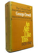 Sonia Orwell, Ian Angus An Age Like This 1920-1940 The Collected Essays, Journal