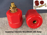 Superior Electric Rs100gr 100a 125/250v Ac/dc Power Entry Connector Receptacle