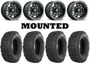 Kit 4 Itp Ultracross R-spec Tires 32x10-15 On Fuel Anza Matte Black D557 Can