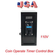 Us 110v New Coin Operated Timer Control Power Supply Box Electronic Machine Ce