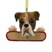 Personalized Ornaments Boxer Brindle Polyresin Christmas Puppy Dog 21871