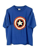 Mens Delta T Shirt | Size Xl | Blue Marvel's Captain America Graphic Tee Top