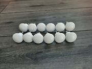 10 Vintage Style Porcelain Or Ceramic 1.25 Drawer Pulls With Screws Farmhouse