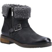 Hush Puppies Womens/ladies Tyler Leather Ankle Boots Fs8188