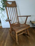 Antique Sikes Co. Maple Rocking Chair C.1940 Arts And Crafts