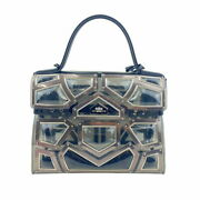 Delvaux Tamper Gm Gladiator Pvc Vinyl/rubber Clear Handbag Women And039s Secondhand