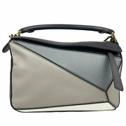 Loewe Puzzle Bag Small Calfskin Navy Gray Blue System Shoulder Women And039s