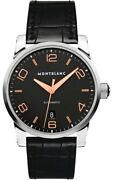 New In Box Timewalker Black Dial Automatic Menand039s Watch Model 110337