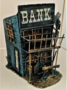 Vintage All-metal Wild West Haunted Savings Bank Coin Bank 7 1/2 X 5 1/2 X 6