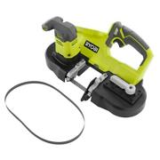 Ryobi Compact Band Saw 18v Lithium Ion Keyless Blade Change Abs Tool Only