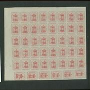 87l7 Husseyand039s Post Unused Sheet Of 46 Stamps With Pf Cert L1134 C