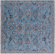 8and039 Square Hand Knotted Turkish Oushak Wool Rug - Q11731