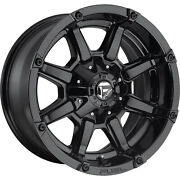 4- 18x9 Gloss Black Fuel Coupler 6x135 And 6x5.5 -12 Wheels Wildpeak At3w Tires