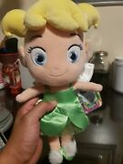 Disney Store Tinker Bell Fairy Toddler 12 Plush Toy Doll Peter Pan With Tags