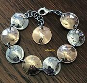 60th Birthday 1961 Or Pick Year Penny And Slveri Dime Bracelet Anniversary Gift