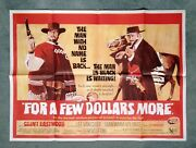 For A Few Dollars More 1965 Original Uk Quad Movie Poster - Clint Eastwood