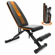 Weight Bench, Adjustable Weight Bench Strength Training Benches Folding With
