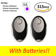 2 For Chamberlain Liftmaster Garage Door Opener Remote 373w Purple Learn Button