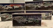 Hess Trucks Lot Of 5 - Helicopter-fire Truck-suv- Racecars-airplane 2000-2004